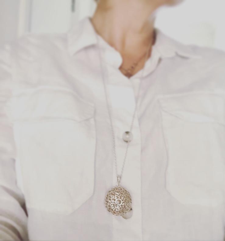 Sterling silver EsmeLoves with Rose Quartz