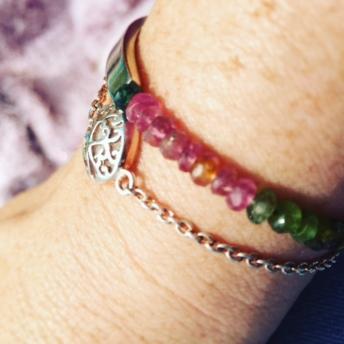The EsmeLoves bracelet with tourmaline bar